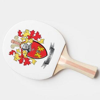 Brennan Coat of Arms Ping-Pong Paddle