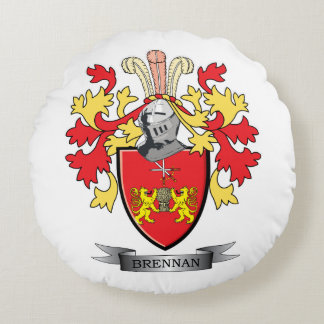 Brennan Coat of Arms Round Pillow