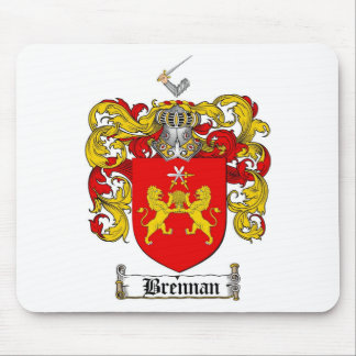 BRENNAN FAMILY CREST -  BRENNAN COAT OF ARMS MOUSE PAD