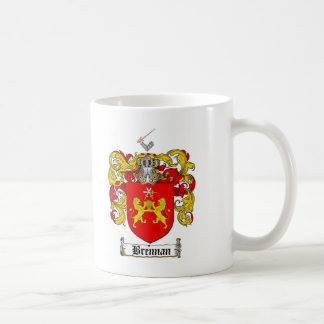 BRENNAN FAMILY CREST -  BRENNAN COAT OF ARMS CLASSIC WHITE COFFEE MUG