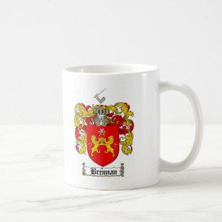 BRENNAN FAMILY CREST -  BRENNAN COAT OF ARMS CLASSIC WHITE COFFEE MUG