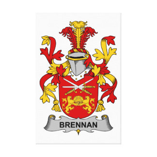 Brennan Family Crest Gallery Wrapped Canvas