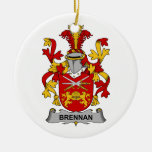 Brennan Family Crest Ornaments
