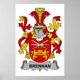 Brennan Family Crest Poster