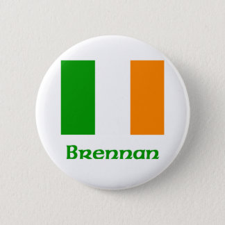 Brennan Irish Flag Pinback Button