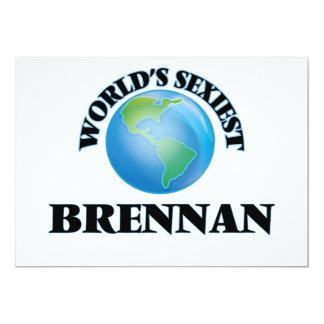 """Brennan más atractivo del mundo invitación 5"""" x 7"""""""