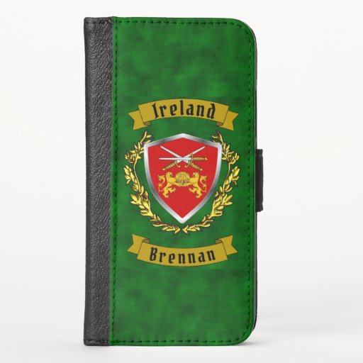 Brennan/O'Brennan Irish Shield iPhone Wallet Case