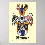 Brenner Family Crest Poster 24x36