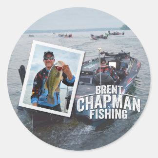 Brent Chapman Bass Fishing Tournament Photo Classic Round Sticker