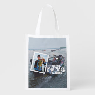 Brent Chapman Bass Fishing Tournament Photo Grocery Bags