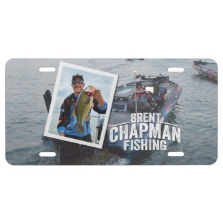 Brent Chapman Bass Fishing Tournament Photo License Plate