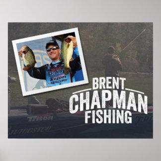 Brent Chapman Bass Fishing Tournament Poster