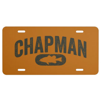 Brent Chapman Fishing Fan Gear- Vintage License Plate