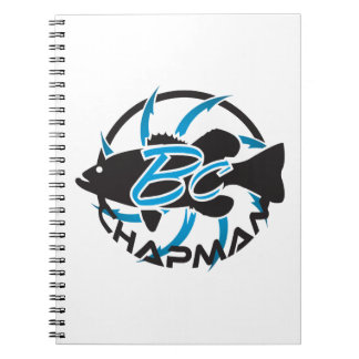 Brent Chapman Fishing Logo Spiral Note Books