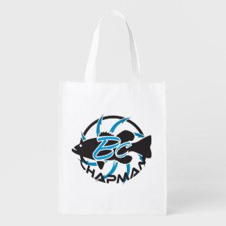Brent Chapman Fishing Logo Reusable Grocery Bag