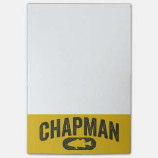Brent Chapman Fishing Logo - Vintage Post-it® Notes