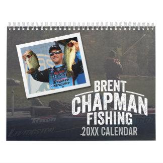 Brent Chapman Fishing Vintage Design - Photo Calendar