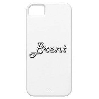 Brent Classic Retro Name Design iPhone 5 Cases
