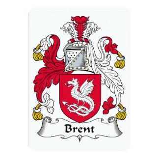 Brent Family Crest Card