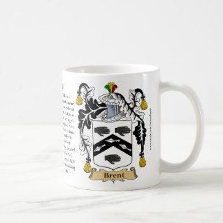 Brent, the Origin, the Meaning and the Crest Coffee Mug