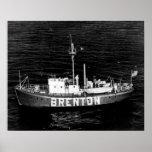 Brenton Reef Lightship LV-102/WAL-525 Poster