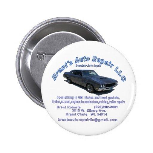 Brents Auto Repair Button Zazzle