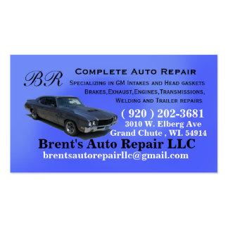 Brents custom order business card