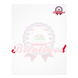 Brentwood CA Personalized Letterhead