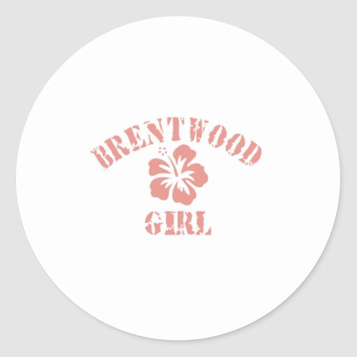 Brentwood Ca Pink Girl Stickers