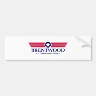Brentwood CA Pride Car Bumper Sticker