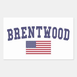 Brentwood CA US Flag Rectangular Sticker
