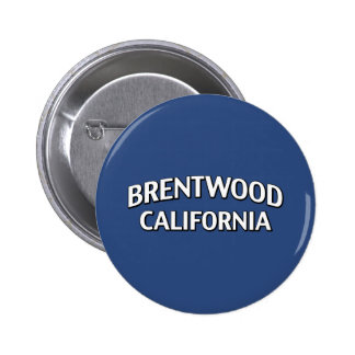 Brentwood California Pinback Button