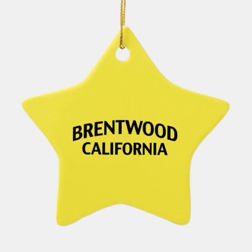 Brentwood California Christmas Ornament