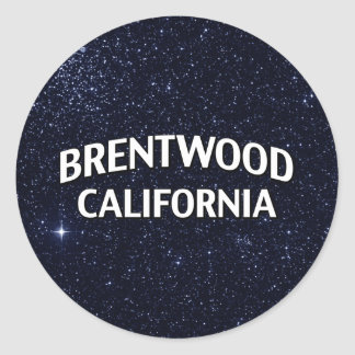 Brentwood California Classic Round Sticker