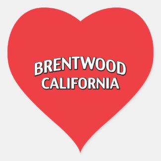 Brentwood California Heart Sticker