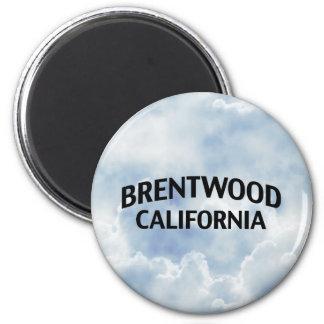 Brentwood California Imán Redondo 5 Cm