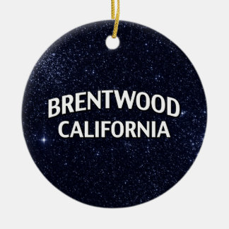 Brentwood California Christmas Ornaments