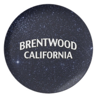 Brentwood California Party Plate