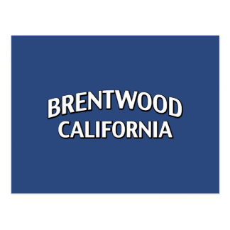 Brentwood California Post Card