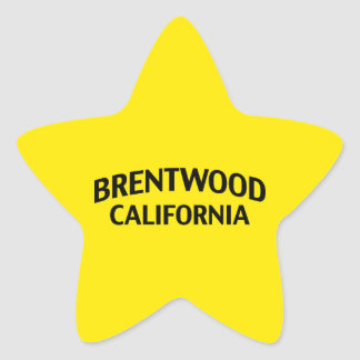 Brentwood California Star Sticker
