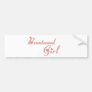Brentwood Girl tee shirts Car Bumper Sticker