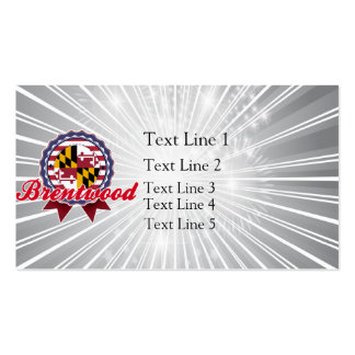 Brentwood MD Business Card Template