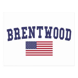 Brentwood TN US Flag Postcard