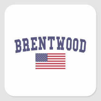 Brentwood TN US Flag Square Sticker
