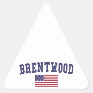 Brentwood TN US Flag Triangle Sticker