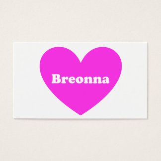 Breonna Business Card
