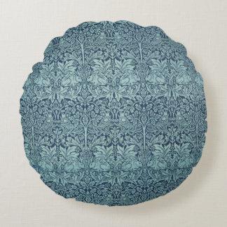 Brer Rabbit by William Morris, Textile Pattern Round Pillow