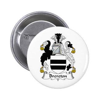 Brereton Family Crest Buttons