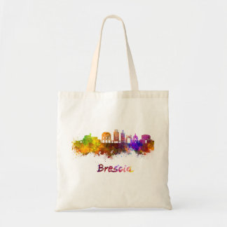 Brescia skyline in watercolor tote bag