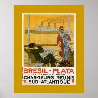 Bresil - Plata Poster